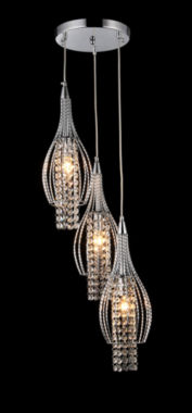 jcpenney.com | Warehouse Of Tiffany Xuan 3-light Adjustable Crystal Chrome-finish Chandelier