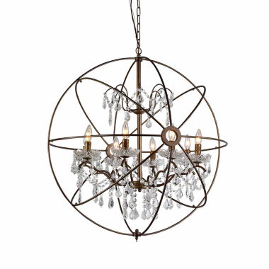 jcpenney.com | Warehouse Of Tiffany Edwards Antique Bronze and Crystal 24-inch Sphere Chandelier