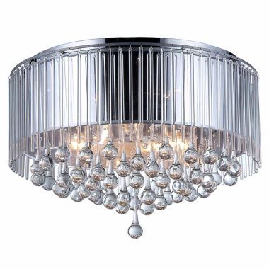 jcpenney.com | Warehouse Of Tiffany Robin Chrome-finish Crystal Chandelier
