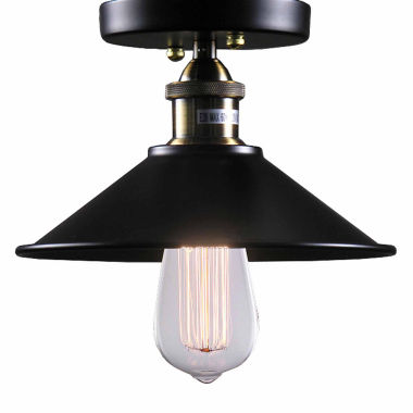 jcpenney.com | Warehouse Of Tiffany Candice 1-light Black EdisonLamp with Bulb