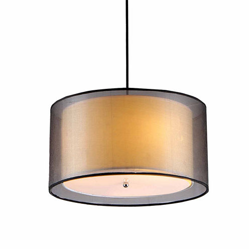 Warehouse Of Tiffany Jonah 3-light Double Drum Shade Pendant