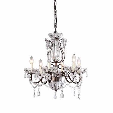 jcpenney.com | Warehouse Of Tiffany Frankenstein Antique Bronze and Crystal 6-light Chandelier