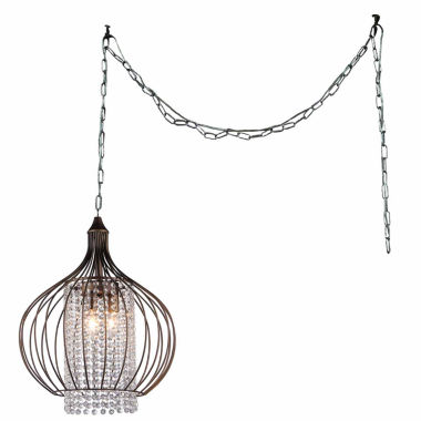 jcpenney.com | Warehouse Of Tiffany Fannie 3-light Crystal 15-inch Bronze Swag Lamp