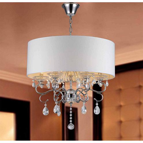 Warehouse Of Tiffany Krissy 6-light Crystal Chandelier