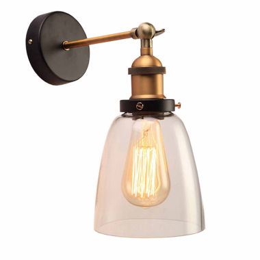jcpenney.com | Warehouse Of Tiffany Barbara 1-light Clear Glass Edison Wall Lamp with Light Bulb