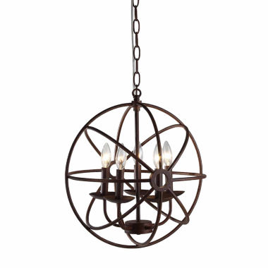 jcpenney.com | Warehouse Of Tiffany Theo 5-light Rust 17-inch Chandelier