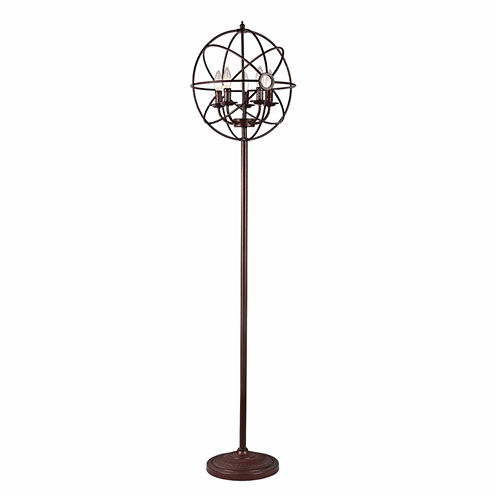 Warehouse Of Tiffany Maaja 5-light Spherical Metal66-inch Antique Floor Lamp