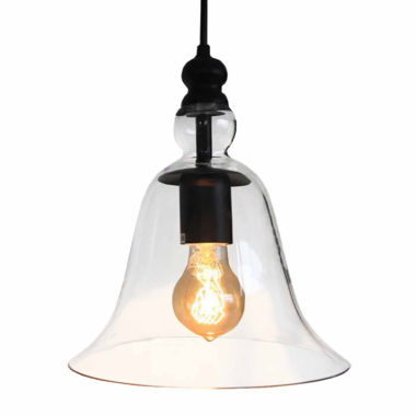 jcpenney.com | Warehouse Of Tiffany Marlowe 1-light Adjustable Cord 8-inch Clear Glass Edison Pendant with Bulb