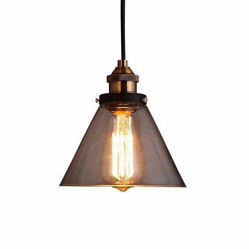 Warehouse Of Tiffany Zhuri 8-inch Adjustable CordGlass Edison Lamp with Light Bulb