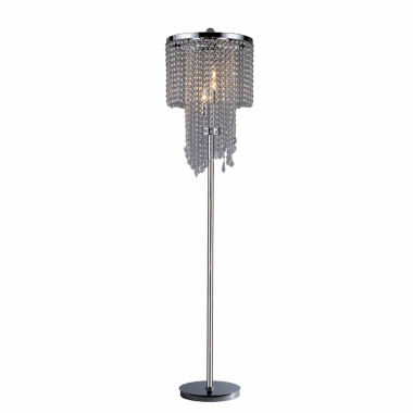jcpenney.com | Warehouse Of Tiffany Chrome and Crystal Floor Lamp