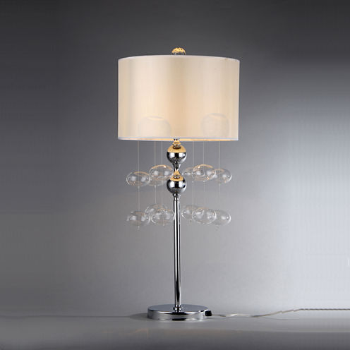 Warehouse Of Tiffany Crystal Shireen Table Lamp