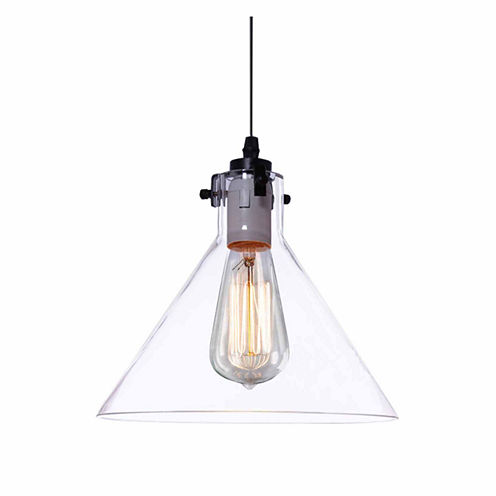 Warehouse Of Tiffany Annie 1-light Adjustable Height 9-inch Edison Pendant with Bulb
