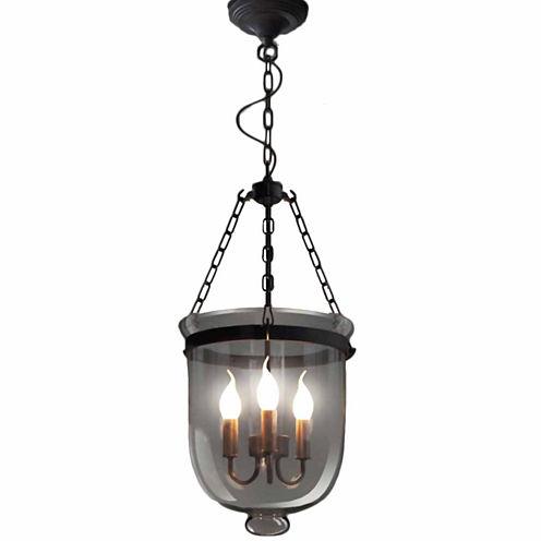 Warehouse Of Tiffany Vashti 3-light Clear Glass 12-inch Chandelier with Bulbs