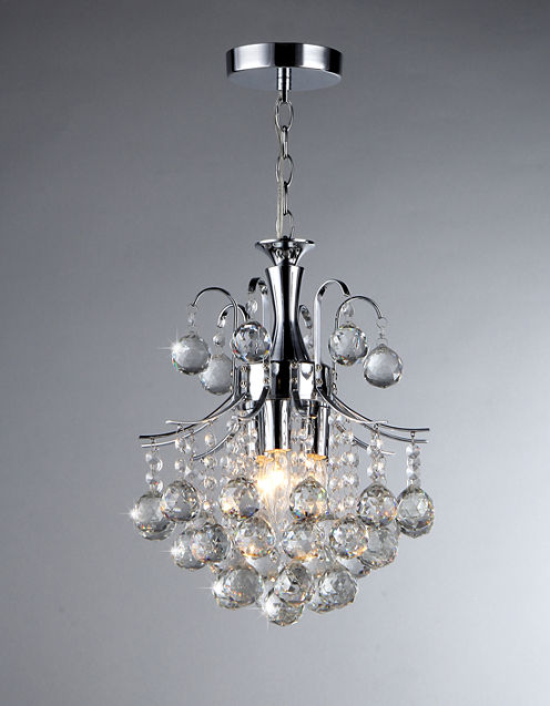 Warehouse Of Tiffany Cyan 3-light Crystal Chandelier