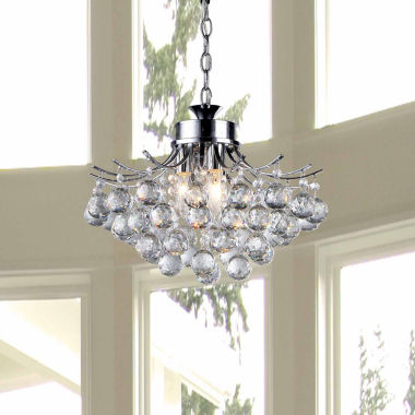 jcpenney.com | Warehouse Of Tiffany Roman Crystal 3-light ChromeChandelier