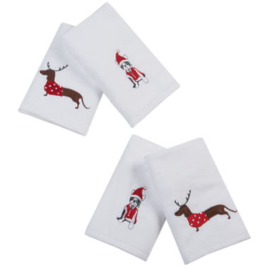 jcpenney.com | Dasher Dog 4-pc Embroidered Hand Towel Set