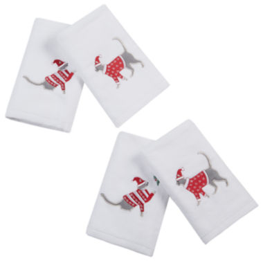 jcpenney.com | Caroling Cat 4-pc Embroidered  Hand Towel Set