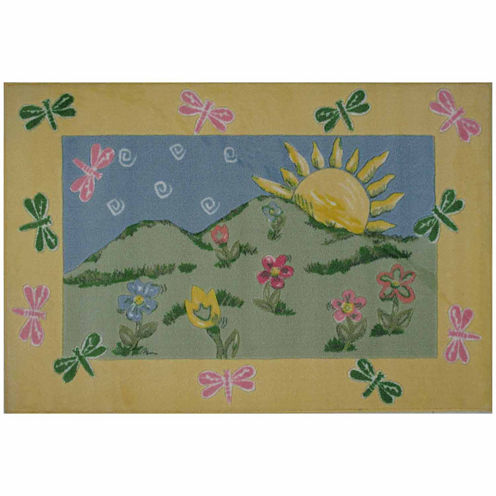 Dragonfly Morning Rectangular Rugs