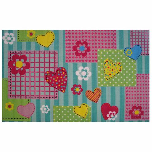 Hearts & Flowers Rectangular Rugs
