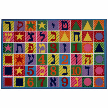 jcpenney.com | Hebrew Numbers & Letters Rectangular Rugs