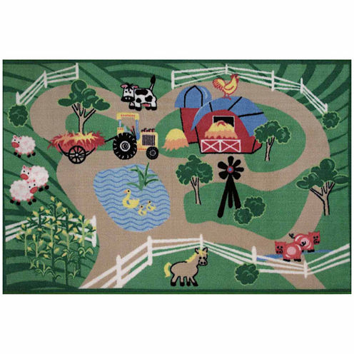 Farm Roads Rectangular Rugs
