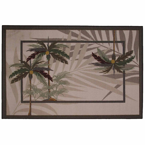 Palm Fronds Ii Rectangular Rugs
