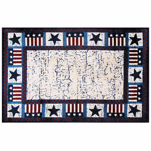 Stars & Flags Rectangular Rugs