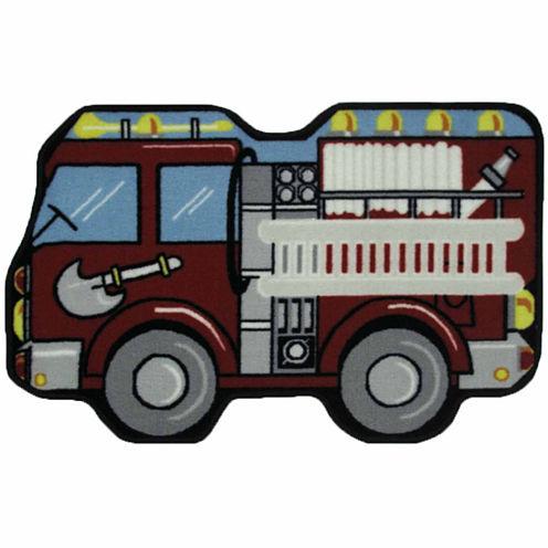 Fire Engine Rectangular Rugs