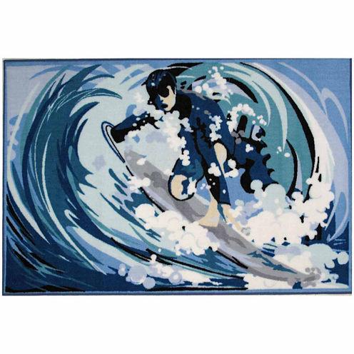 Surfin' Rectangular Rugs