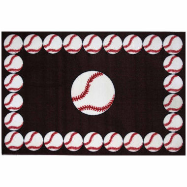 jcpenney.com | Baseball Time Rectangle Accent Rug