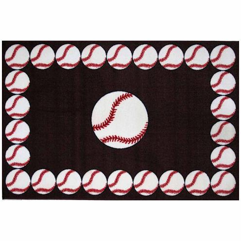 Baseball Time Rectangular Rugs