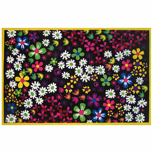 Floral Rectangular Rugs