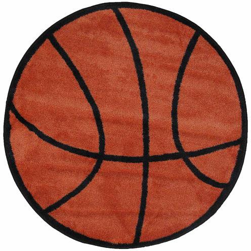 Basketball Round Rugs