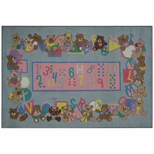 """39""""X58"""" Teddies & Letters Rectangle Accent Rug"""