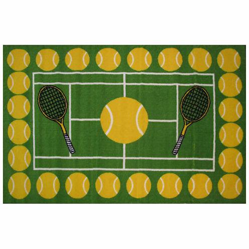 Tennis Time Rectangular Rugs
