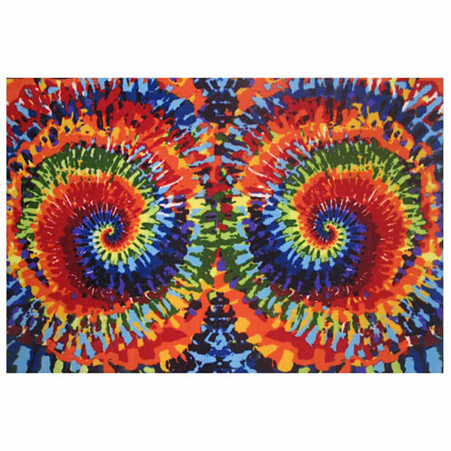 Tie-Dye Fun Rectangular Rugs