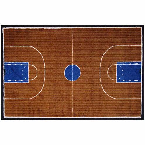 Basketball Court-Supreme Rectangular Rugs
