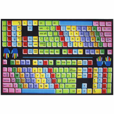 jcpenney.com | Keyboard Rectangle Rugs