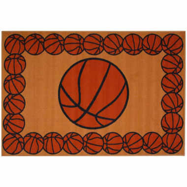jcpenney.com | Basketball Time Rectangle Accent Rug