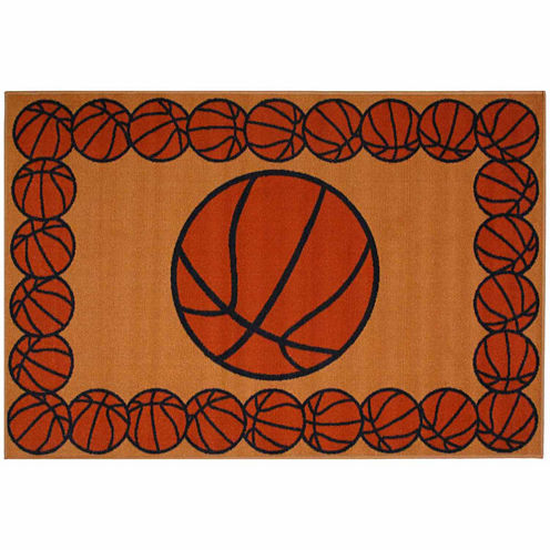 Basketball Time Rectangular Rugs
