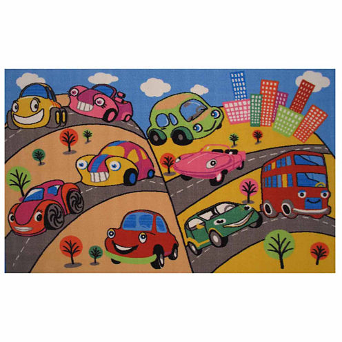 Fun Cars Rectangular Rugs