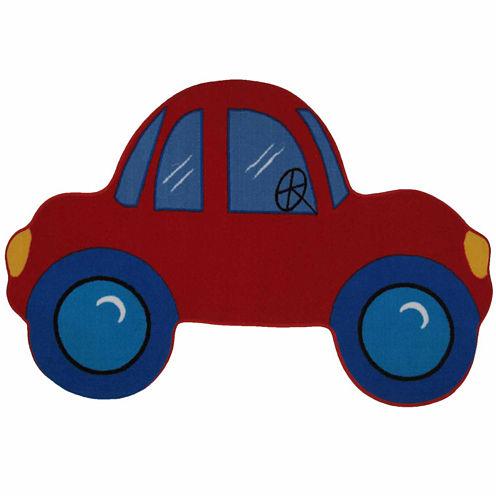 Red Car Rectangular Rugs