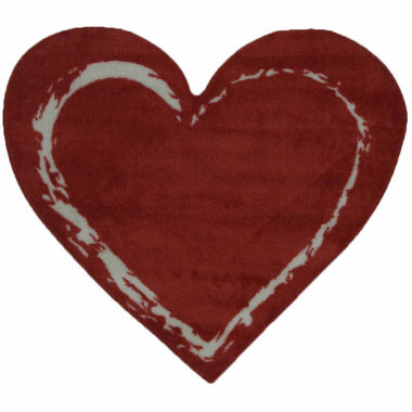 jcpenney.com | Red Heart Accent Rug