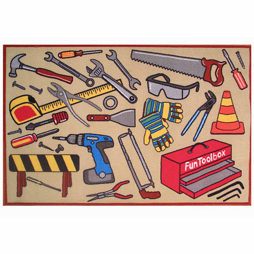Fun Toolbox Rectangular Rugs