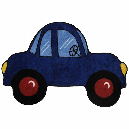 Blue Car Rectangular Rugs