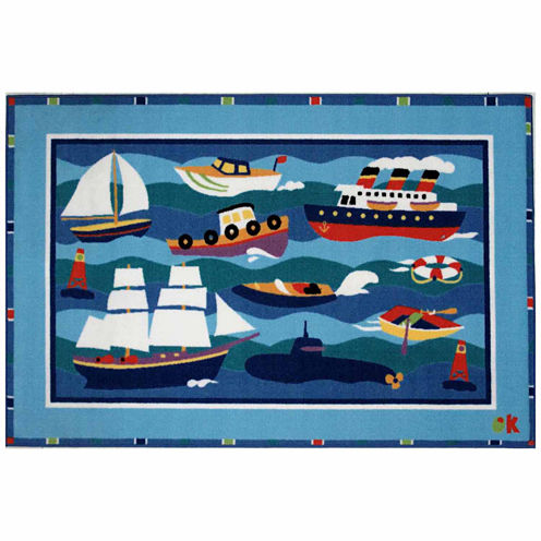 Boats & Bouys Rectangular Rugs