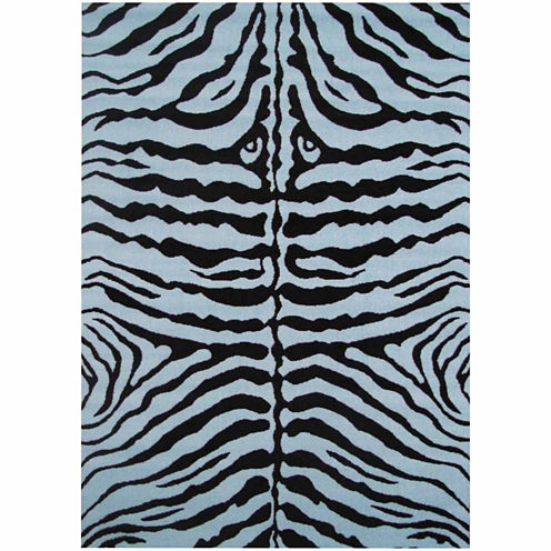 "39""X58"" Zebra Skin Rectangle Accent Rug"