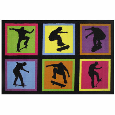 jcpenney.com | Skateboarding Fun Rectangle Accent Rug