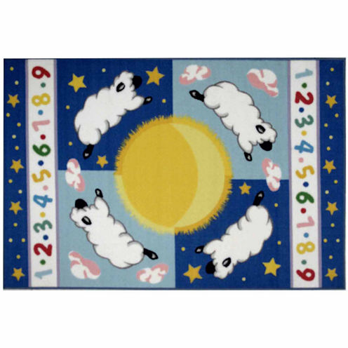 Sleepy Sheep Rectangular Rugs
