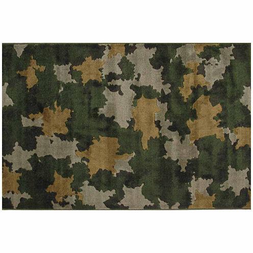 Camouflage Rectangular Rugs